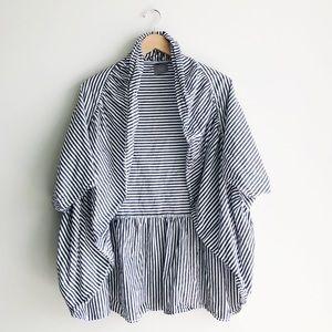 Anthro. Venessa Virginia | Striped Open Cardigan